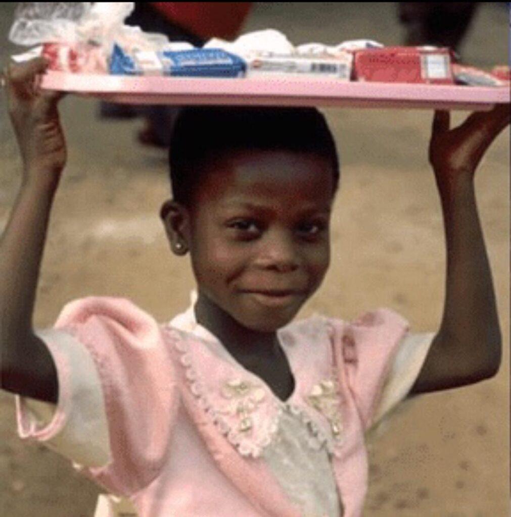 Ghanaian girl purchases bicycle