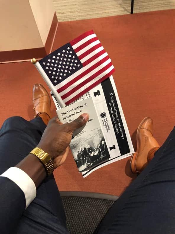 Nigerian becomes a US citizen